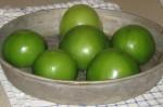 Tomatillos just before baking